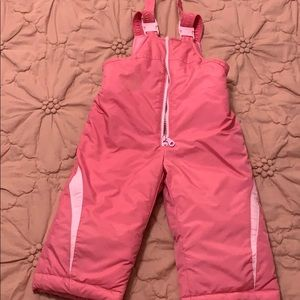Toddler snow overalls
